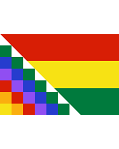 Flag: Possible proposal of Evo Morales for a new flag of Bolivia