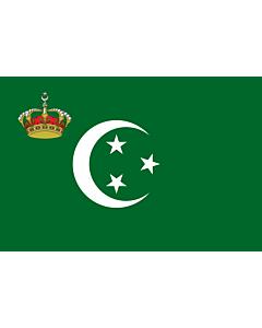Flag: Royal Standard of Egypt  on land   Royal Standard on land  of the Kingdom of Egypt