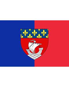 Flag: Paris with shield   Vectorized image of the FOTW site flag of Paris