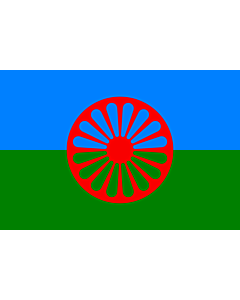 Flag: Romani people   Romani people, made using these dimensions