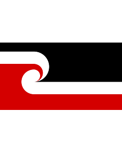 Flag: Tino Rangatiratanga Maori sovereignty movement | The Tino Rangatiratanga Flag of the Maori sovereignty movement