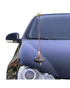 Magnetic Car Flag Pole Diplomat-1.30-Gold