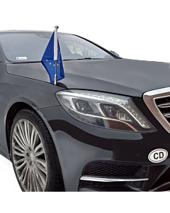 Car Flag Pole Diplomat-Z-Chrome-MB-W222  for Mercedes-Benz S (W222) (2013-)